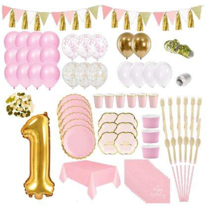 thema 1 jaar roze goud versiering