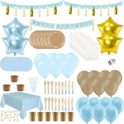 PartyBox blauw-goud