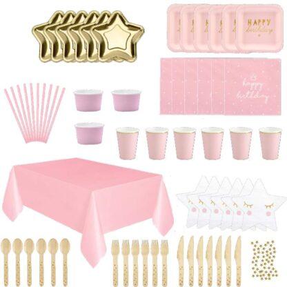 Tafelversiering goud-roze