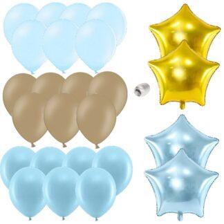 Ballonnen bruin-blauw