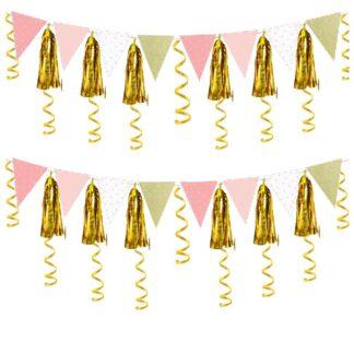 Slingers roze-goud