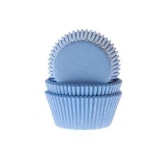 Papieren cupcake vormpjes blauw