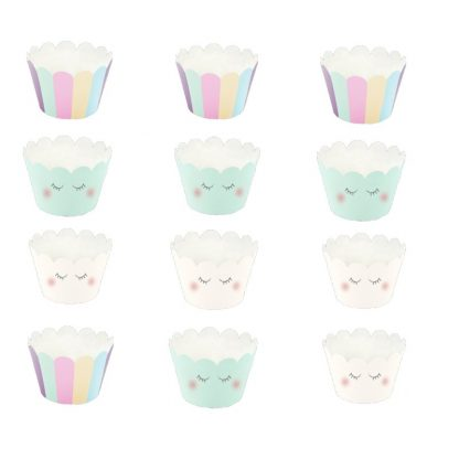 Cupcake wrappers pastel