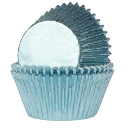 Folie cupcake vormpjes blauw