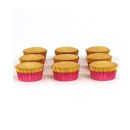 roze goud cupcake cups folie