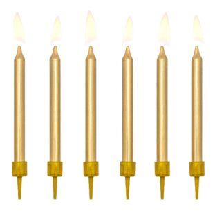 gouden kaarsen verjaardag taart