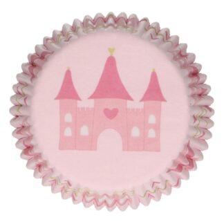 Papieren cupcake vormpjes prinses