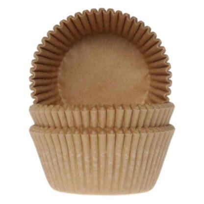 Papieren cupcake vormpjes bruin