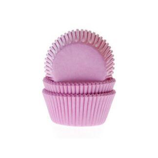 Papieren cupcake vormpjes roze