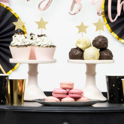 Gouden ster cupcake prikkers