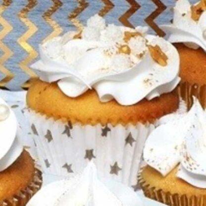Papieren cupcake vormpjes ster