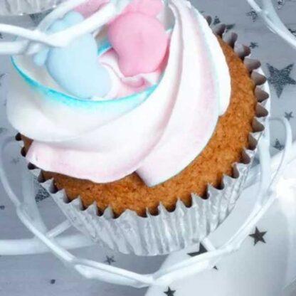 Folie cupcake vormpjes zilver