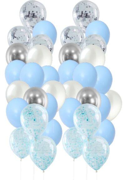 verjaardag blauw zilver ballonnen pakket