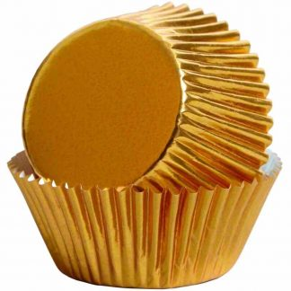 Folie cupcake vormpjes goud