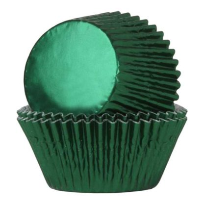 Folie cupcake vormpjes groen