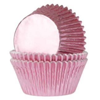 Folie cupcake vormpjes roze