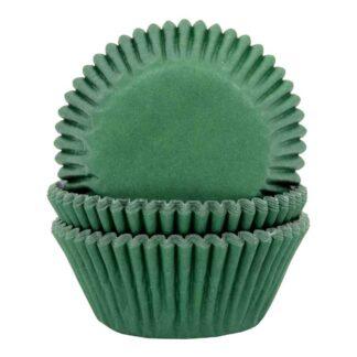 Papieren cupcake vormpjes groen