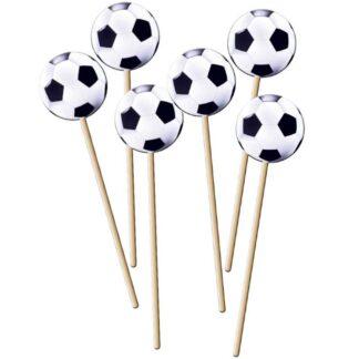 Cupcake prikkers voetbal
