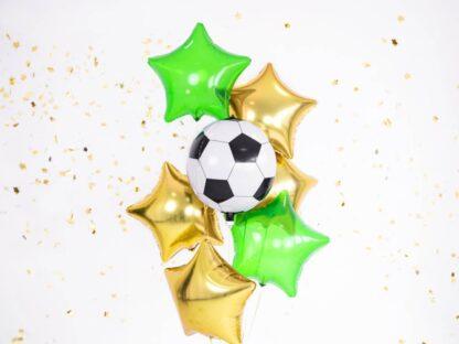 Folieballon ster goud Folieballon ster groen folieballon voetbal