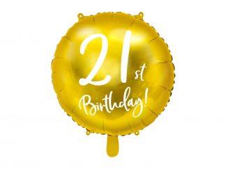 Folieballon 21ste verjaardag