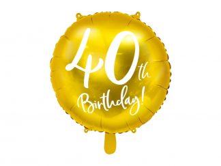 Folieballon 40ste verjaardag