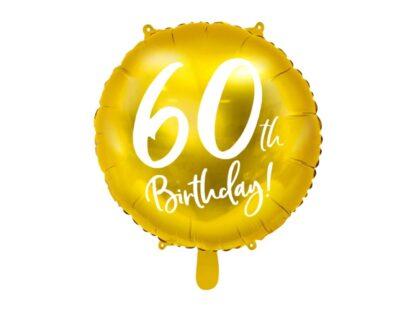 Folieballon 60ste verjaardag