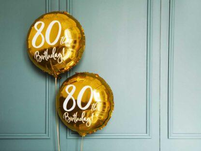 Folieballon 80ste verjaardag