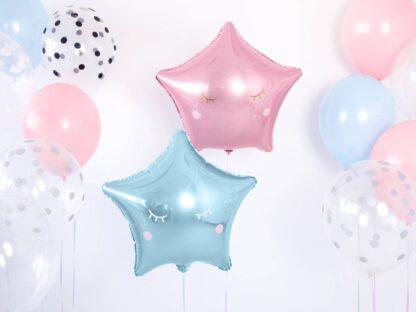 Folieballon ster blauw Folieballon ster roze