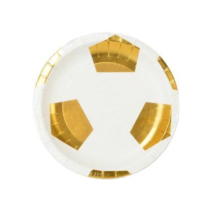 Gouden voetbal kartonnen bord