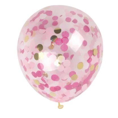 gouden en roze confettiballon