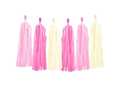 Roze tasselslinger