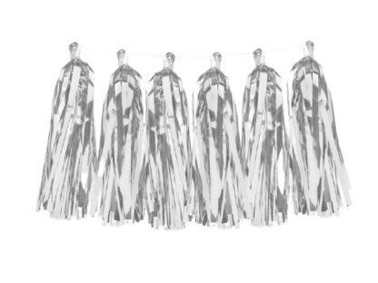 Zilveren tasselslinger