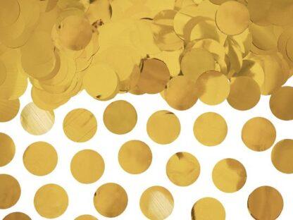 Ronde gouden confetti