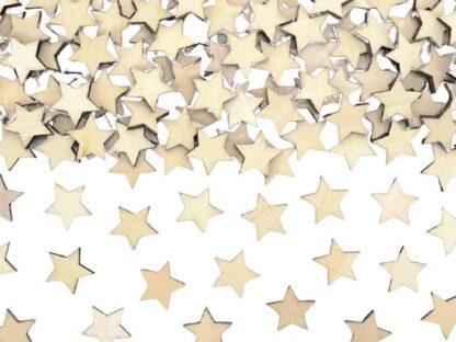 Houten sterretjes confetti