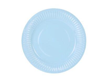 Blauw kartonnen bord18cm