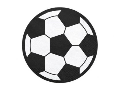 zwarte voetbal servetten