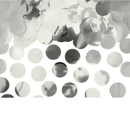 ronde zilveren confetti