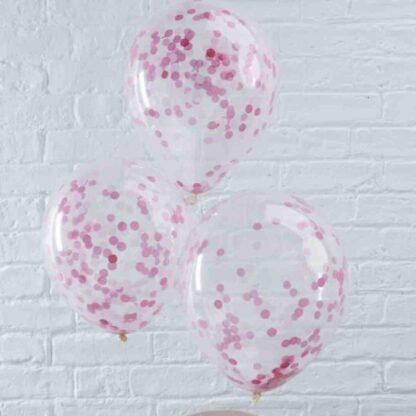 roze confettiballon